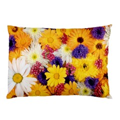 Colorful Flowers Pattern Pillow Case