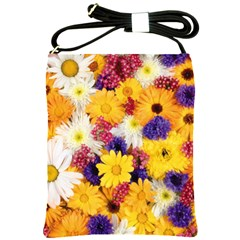 Colorful Flowers Pattern Shoulder Sling Bags