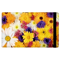 Colorful Flowers Pattern Apple Ipad 2 Flip Case by BangZart