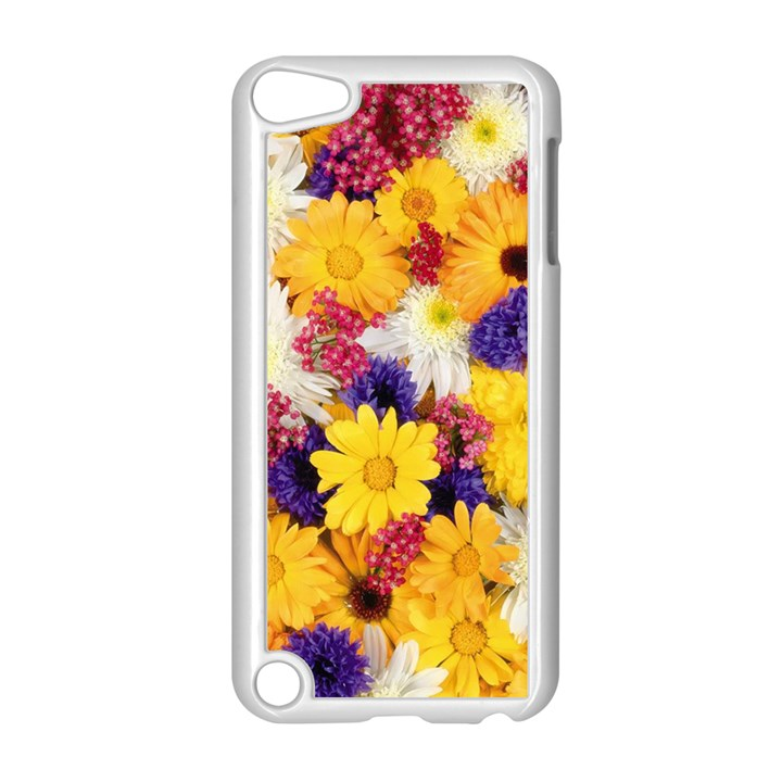 Colorful Flowers Pattern Apple iPod Touch 5 Case (White)