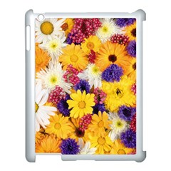 Colorful Flowers Pattern Apple Ipad 3/4 Case (white) by BangZart