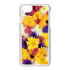 Colorful Flowers Pattern Apple Iphone 7 Seamless Case (white) by BangZart