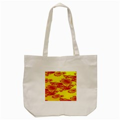 Floral Fractal Pattern Tote Bag (cream)