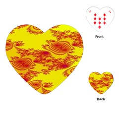 Floral Fractal Pattern Playing Cards (heart)  by BangZart