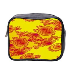 Floral Fractal Pattern Mini Toiletries Bag 2 Side by BangZart