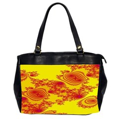 Floral Fractal Pattern Office Handbags (2 Sides)