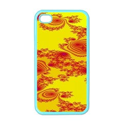 Floral Fractal Pattern Apple Iphone 4 Case (color)