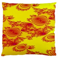Floral Fractal Pattern Large Cushion Case (two Sides)