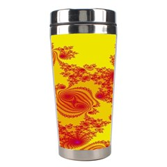 Floral Fractal Pattern Stainless Steel Travel Tumblers