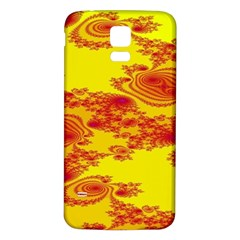 Floral Fractal Pattern Samsung Galaxy S5 Back Case (white) by BangZart