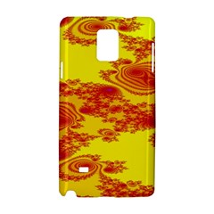Floral Fractal Pattern Samsung Galaxy Note 4 Hardshell Case by BangZart