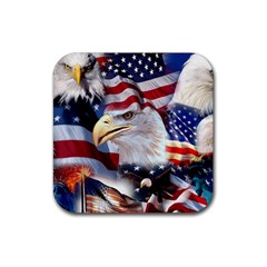 United States Of America Images Independence Day Rubber Coaster (square)