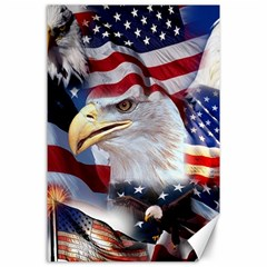 United States Of America Images Independence Day Canvas 24  X 36