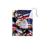 United States Of America Images Independence Day Drawstring Pouches (Small)  Front