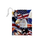 United States Of America Images Independence Day Drawstring Pouches (Small)  Back