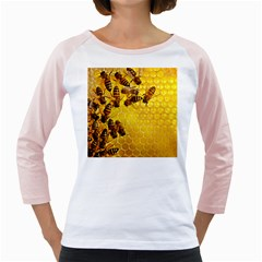 Honey Honeycomb Girly Raglans