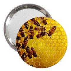 Honey Honeycomb 3  Handbag Mirrors by BangZart