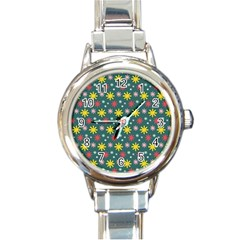 The Gift Wrap Patterns Round Italian Charm Watch