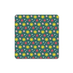 The Gift Wrap Patterns Square Magnet