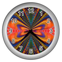 Casanova Abstract Art Colors Cool Druffix Flower Freaky Trippy Wall Clocks (silver)
