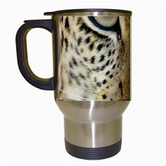 Leopard Face Travel Mugs (white)