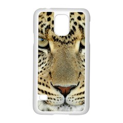 Leopard Face Samsung Galaxy S5 Case (white)