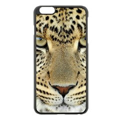 Leopard Face Apple Iphone 6 Plus/6s Plus Black Enamel Case