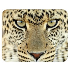Leopard Face Double Sided Flano Blanket (medium)  by BangZart