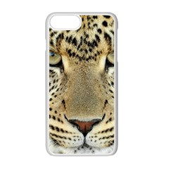 Leopard Face Apple Iphone 7 Plus White Seamless Case