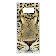 Leopard Face Samsung Galaxy S8 Plus White Seamless Case