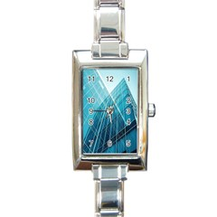 Glass Bulding Rectangle Italian Charm Watch by BangZart