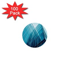 Glass Bulding 1  Mini Buttons (100 Pack)  by BangZart