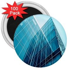 Glass Bulding 3  Magnets (100 Pack) by BangZart