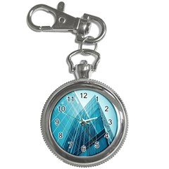 Glass Bulding Key Chain Watches by BangZart