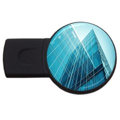 Glass Bulding Usb Flash Drive Round (2 Gb) by BangZart