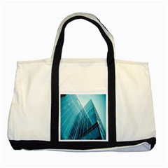 Glass Bulding Two Tone Tote Bag by BangZart