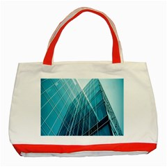 Glass Bulding Classic Tote Bag (red)