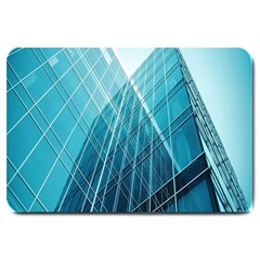 Glass Bulding Large Doormat  by BangZart