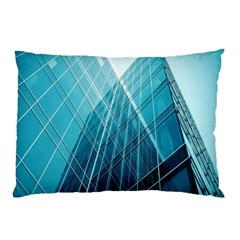Glass Bulding Pillow Case by BangZart
