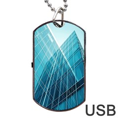 Glass Bulding Dog Tag Usb Flash (two Sides) by BangZart
