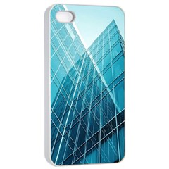 Glass Bulding Apple Iphone 4/4s Seamless Case (white) by BangZart