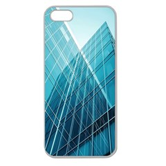 Glass Bulding Apple Seamless Iphone 5 Case (clear) by BangZart