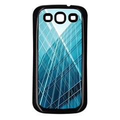 Glass Bulding Samsung Galaxy S3 Back Case (black) by BangZart