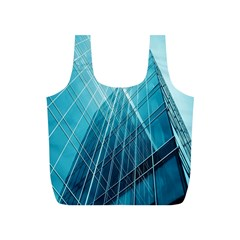Glass Bulding Full Print Recycle Bags (s)  by BangZart