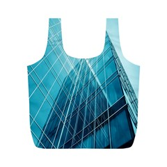 Glass Bulding Full Print Recycle Bags (m)  by BangZart