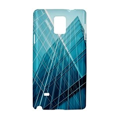 Glass Bulding Samsung Galaxy Note 4 Hardshell Case by BangZart