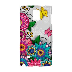 Flowers Pattern Vector Art Samsung Galaxy Note 4 Hardshell Case