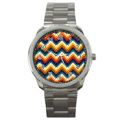 The Amazing Pattern Library Sport Metal Watch