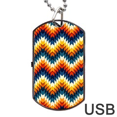 The Amazing Pattern Library Dog Tag Usb Flash (one Side)