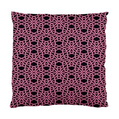Triangle Knot Pink And Black Fabric Standard Cushion Case (one Side)